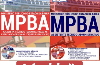 Apostilas Concurso MP / BA – 2017, Analista Técnico e Assistente Técnico-Administrativo