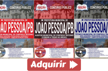 Apostilas Concurso Público Prefeitura Municipal de João Pessoa / PB – 2017, Auditor e Técnico Municipal de Controle Interno