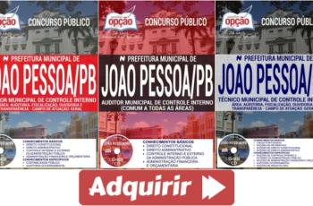 Apostilas Concurso Público Prefeitura Municipal de João Pessoa / PB – 2017, Auditor e Técnico Municipal de Controle Interno