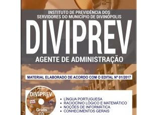 Apostila de Estudo Concurso Público DIVIPREV / MG – 2018, emprego: Agente de Administração