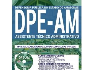 Material de Estudo Concurso Público DPE / AM – 2017/2018, função: Assistente Técnico Administrativo