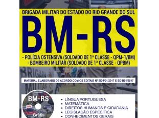 Apostila Polícia Ostensiva e Bombeiro Militar do Concurso Público da BM / RS – 2017