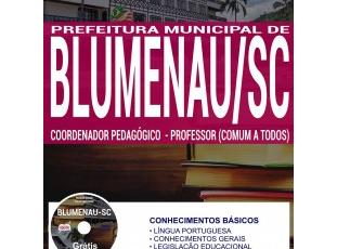 Apostila Processo Seletivo Prefeitura Municipal de Blumenau / SC – 2017, Coordenador Pedagógico e Professor