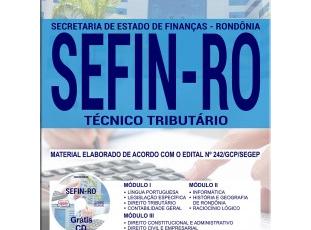 Apostila Concurso Público SEFIN / RO – 2017/2018, Técnico Tributário