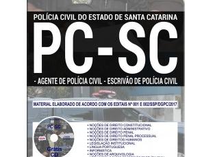 Apostila Concurso Público PC / SC – 2017, Agente e Escrivão de Polícia Civil