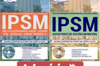Apostilas Concurso IPSM São José dos Campos / SP – 2017/2018, Assistente de Gestão Municipal e Analista de Gestão Municipal