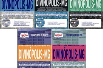 Concurso Prefeitura de Divinópolis / MG – 2018, Apostilas Preparatórias para Diversos Empregos