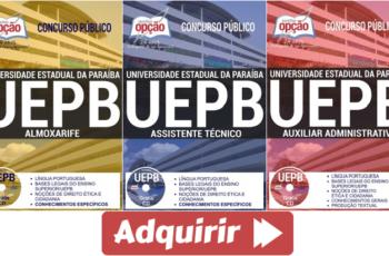 Apostilas de Estudo Concurso UEPB – 2017, cargos: Assistente Técnico, Auxiliar Administrativo e Almoxarife