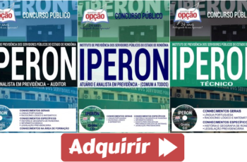 Apostilas Concurso Público IPERON – 2017, empregos: Técnicos, Atuário e Analistas