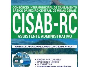 Apostila Processo Seletivo CISAB-RC / MG – 2017, Assistente Administrativo