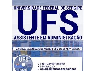 Apostila de Estudo Concurso Público UFS – 2017/2018, emprego: Assistente em Administração