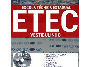 Material de Estudo Processo Seletivo Vestibulinho ETEC (São Paulo) – Escola Técnica Estadual 1º Semestre – 2018