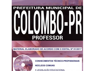 Apostila Professor do Concurso Público da Prefeitura de Colombo / PR – 2017