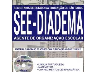 Apostila Agente de Organização Escolar do Processo Seletivo da SEE Regional Diadema / SP – 2017
