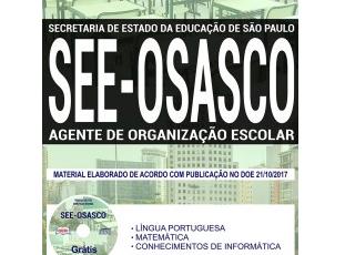 Apostila Agente de Organização Escolar do Processo Seletivo da SEE Regional Osasco / SP – 2017