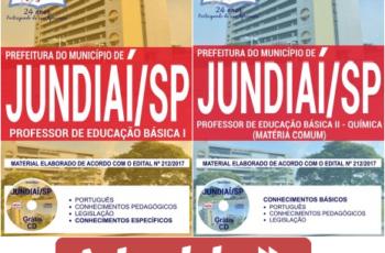 Apostilas Concurso Público Prefeitura de Jundiaí / SP – 2017/2018, Professor de Educação Básica – PEB I e II