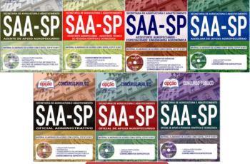 Apostilas Concurso SAA / SP – 2017/2018, Comum Vários Empregos