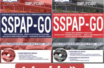 Apostilas Processo Seletivo SSPAP / GO – 2017/2018, Comum Vários Empregos