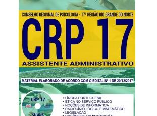 Apostila Assistente Administrativo do Concurso Público do CRP da 17ª Região / RN – 2017/2018