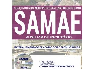 Material de Estudo Concurso Público SAMAE Mogi Guaçu / SP – 2017/2018, função: Auxiliar de Escritório
