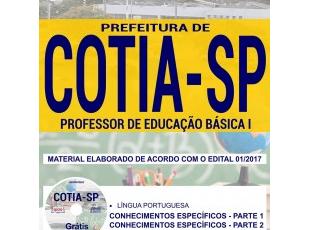 Apostila Concurso Público Prefeitura de Cotia / SP – 2017/2018, Professor de Educação Básica I