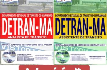 Apostilas Concurso Público DETRAN / MA – 2017/2018, Assistente e Analista de Trânsito