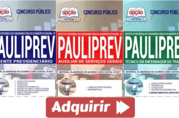 Concurso Público PAULIPREV / SP – 2018, Apostilas Preparatórias para Diversos Cargos