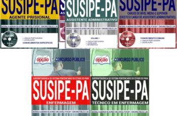 Apostilas Opção Concurso Público SUSIPE / PA – 2017/2018, Vários Empregos