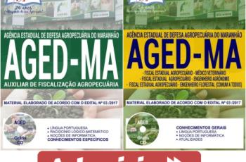 Apostilas Auxiliar de Fiscalização Agropecuária e Fiscal Estadual Agropecuário do Concurso Público da AGED / MA – 2018