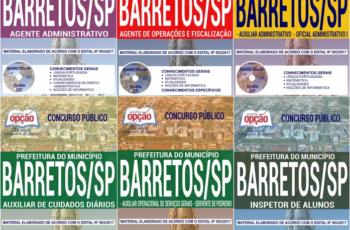 Apostilas Diversos Cargos do Concurso Público da Prefeitura de Barretos / SP – 2018