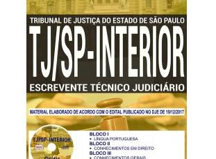 Apostila Concurso TJ / SP – 2018, Escrevente Técnico Judiciário