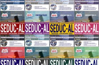 Apostilas Concurso Público SEDUC / AL – 2018, empregos: Professores – Diversas Áreas/Especialidades