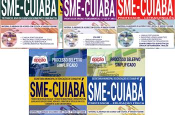 Apostilas Diversos Cargos do Processo Seletivo da SME de Cuiabá / MT – 2017/2018