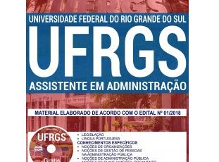 Material de Estudo Concurso Público UFRGS / 2018, função: Assistente em Administração