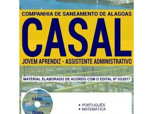 Material de Estudo Concurso Público CASAL / 2018, função: Programa Jovem Aprendiz – Assistente Administrativo