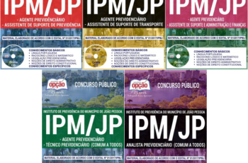 Apostilas Concurso Público IPM / JP – 2018, empregos: Agente, Técnico e Analista Previdenciário