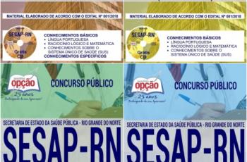 Apostilas Concurso Público SESAP / RN – 2018, Assistente Técnico em Saúde, Técnico em Enfermagem, Enfermeiro e Outros