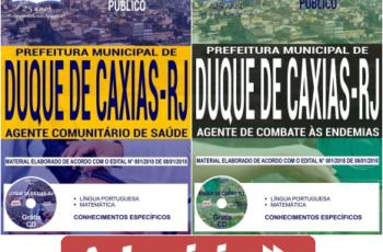 Apostilas Processo Seletivo Prefeitura Duque de Caxias / RJ – 2018, Agente Comunitário de Saúde e de Combate às Endemias