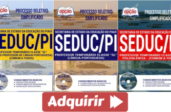 """Apostilas Professor """"SL"""" Todas Especialidades do Processo Seletivo da SEDUC / PI – 2018"""