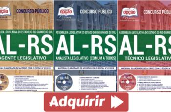 Apostilas Concurso Público AL / RS – 2018, Agente, Técnico e Analista Legislativo
