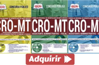 Apostilas Concurso Público CRO / MT – 2018, Assistente Administrativo e Analista Administrativo