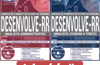 Apostilas Opção Concurso Público DESENVOLVE RR – 2018, Analista Administrativo e Analista Demais Atribuições