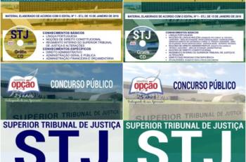 Apostilas Técnico Judiciário e Analista Judiciário do Concurso Público do STJ – 2018