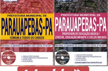 Apostilas Concurso Público na área da Educação de Parauapebas / PA – 2018, Professores de Educação Básica I e II