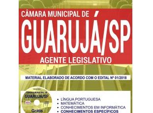 Estude com a Apostila do Concurso da Câmara de Guarujá / SP – 2018, no emprego de: Agente Legislativo