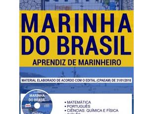 Apostila de Estudo Concurso Público Marinha do Brasil – 2018, emprego: Aprendizes de Marinheiro