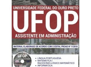 Apostila Estudar Concurso Público UFOP – 2018, Assistente em Administração