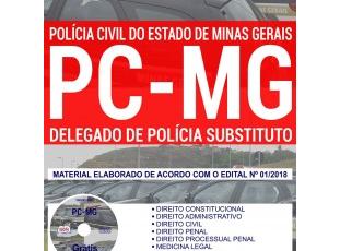 Material de Estudo Concurso Público PC / MG – 2018, função: Delegado de Polícia Substituto
