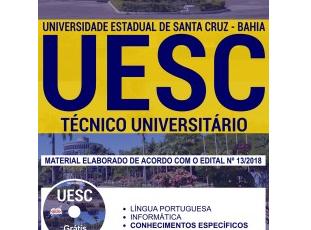 Apostila Estudar Concurso Público Universidade Estadual de Santa Cruz – UESC / BA – 2018, Técnico Universitário