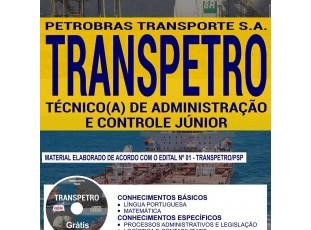 Apostila Processo Seletivo TRANSPETRO – 2018, Técnico(a) de Administração e Controle Júnior